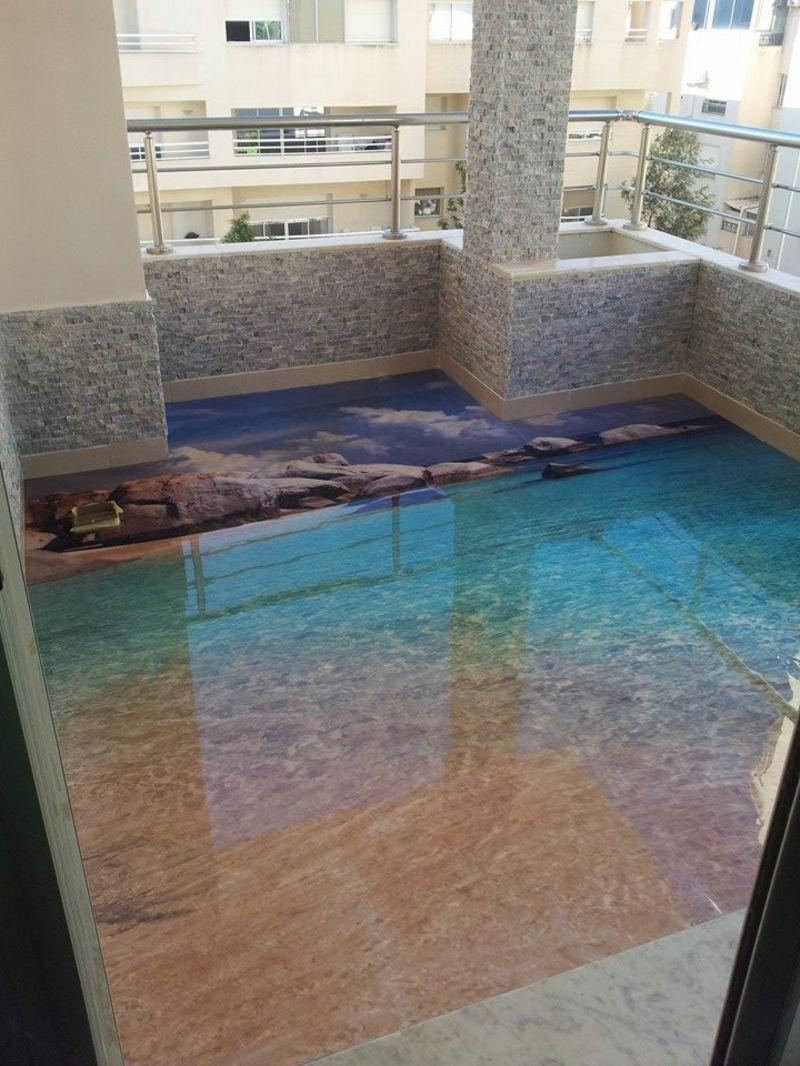 3D Fliesen - Ideen für das Badezimmer - Badezimmer, Bodenbeläge ...