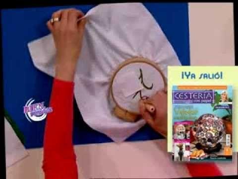 Mónica Somma - Bienvenidas TV - Decora un individual en bordado chino.