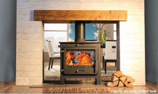 Ekol Clarity Double Sided Stove Double Sided Fireplace Double