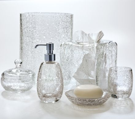 Paradigm Bath Accessories, Crackle Glass Ice Soap and Lotion ...