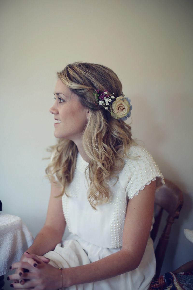 Hanging flowers hair flowers brooklyn inspired wedding wedding half hair flower crown vintage wedding flowers 1 izmirmasajfo