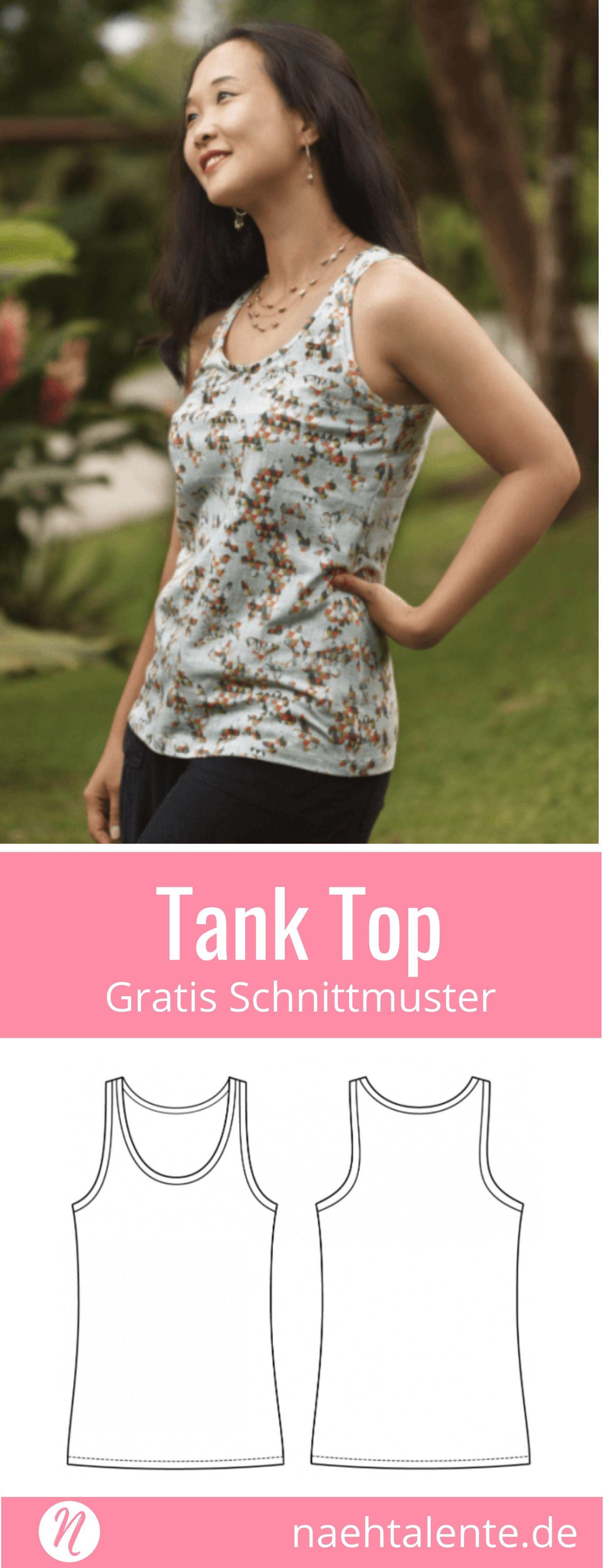 Tank Top für Damen | Pinterest | Gratis schnittmuster, Ausdrucken ...