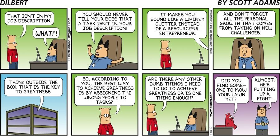 Dilbert Comic Strip On 2015-01-18