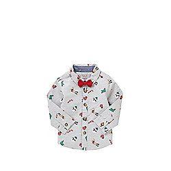 b7b06e266 F F Christmas Shirt with Bow Tie £7