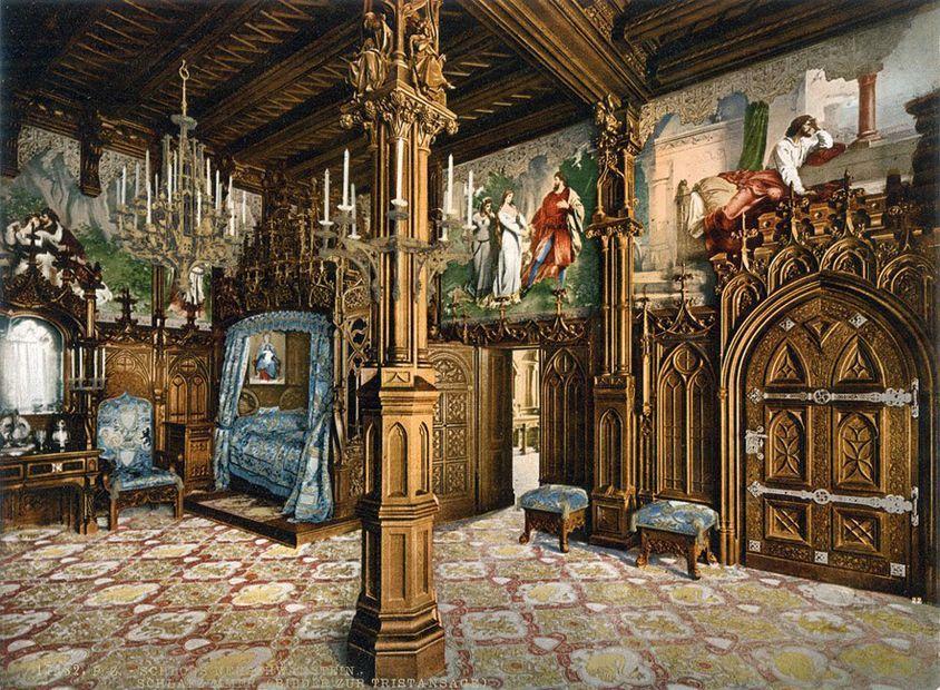 Deutsche Vergangenheit In Farbe Schloss Schlafzimmer Bilder Schloss Neuschwanstein