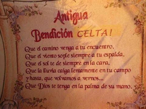 Antigua Bendición Celta Bendicion Celta Celta Y Frases De
