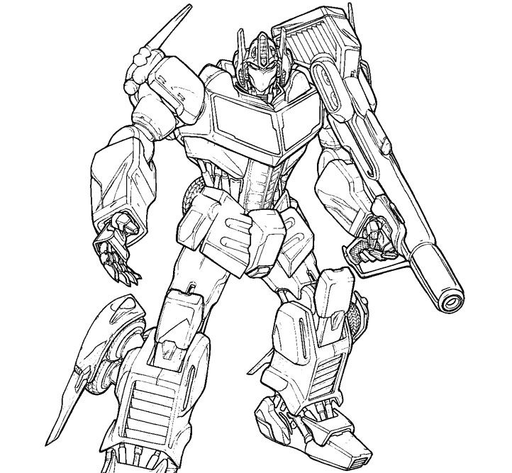 Transformers Optimus Prime Coloring Pages_360270 (722×667)