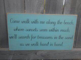 Wedding Sign  Beach Wedding Sign  Beach Decor  Come by Wildoaks, $42.00