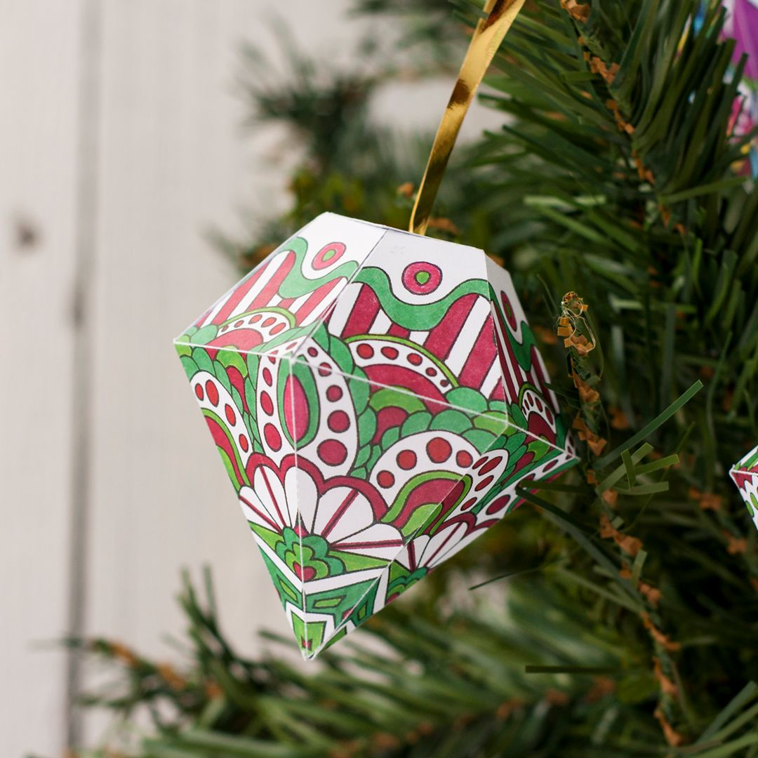 Color And Make Your Own Christmas Tree Ornaments With This Set Of 10 Fun Holiday Templates