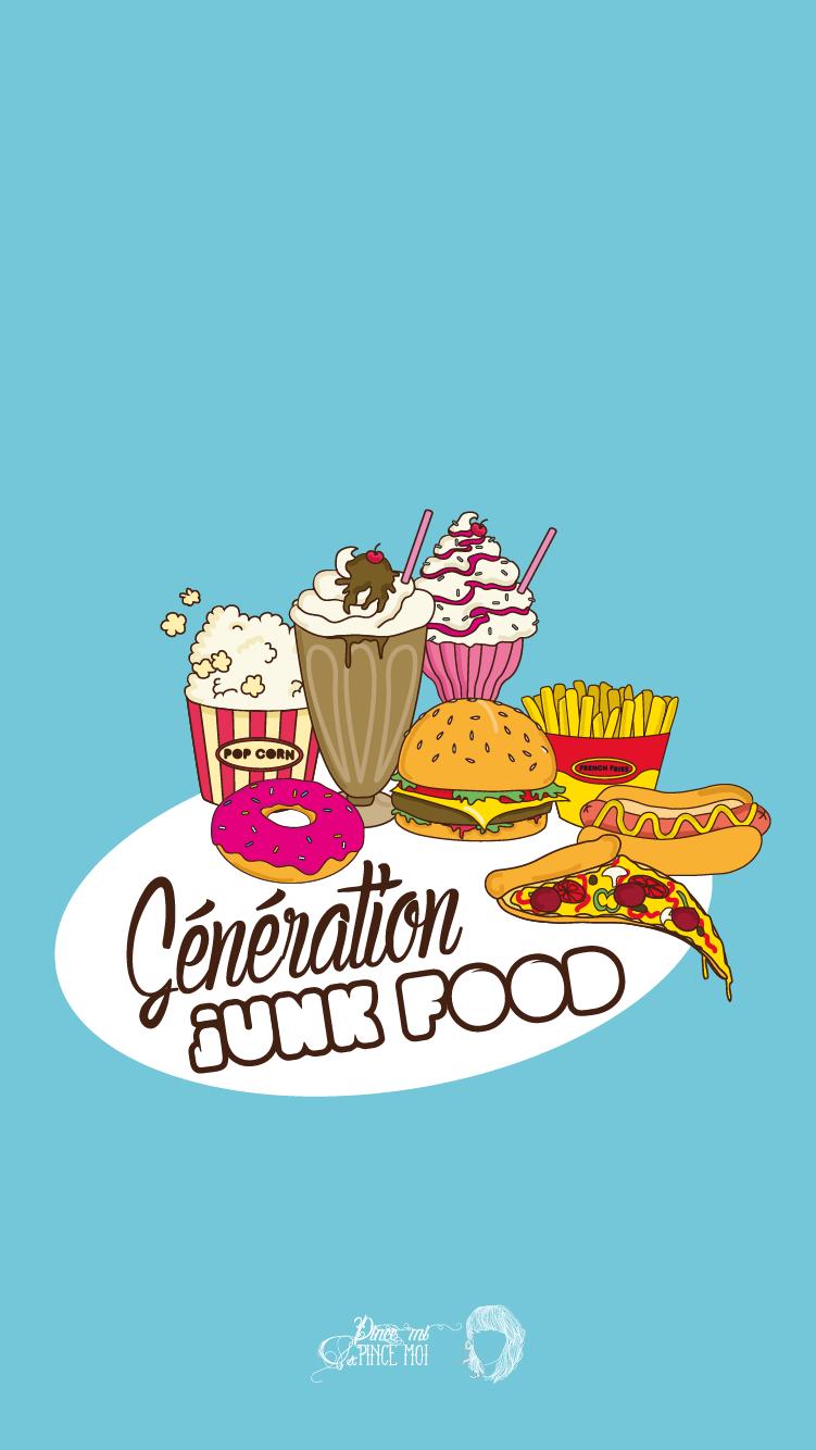 Junk Food IPhone Wallpaper Lock Screen PanPins Iphone Themes Cute Wallpapers