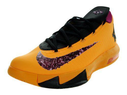Nike Men's KD VI Lsr Orng/Rspbrry Rd/Blk/Gld Sd Basketball Shoe