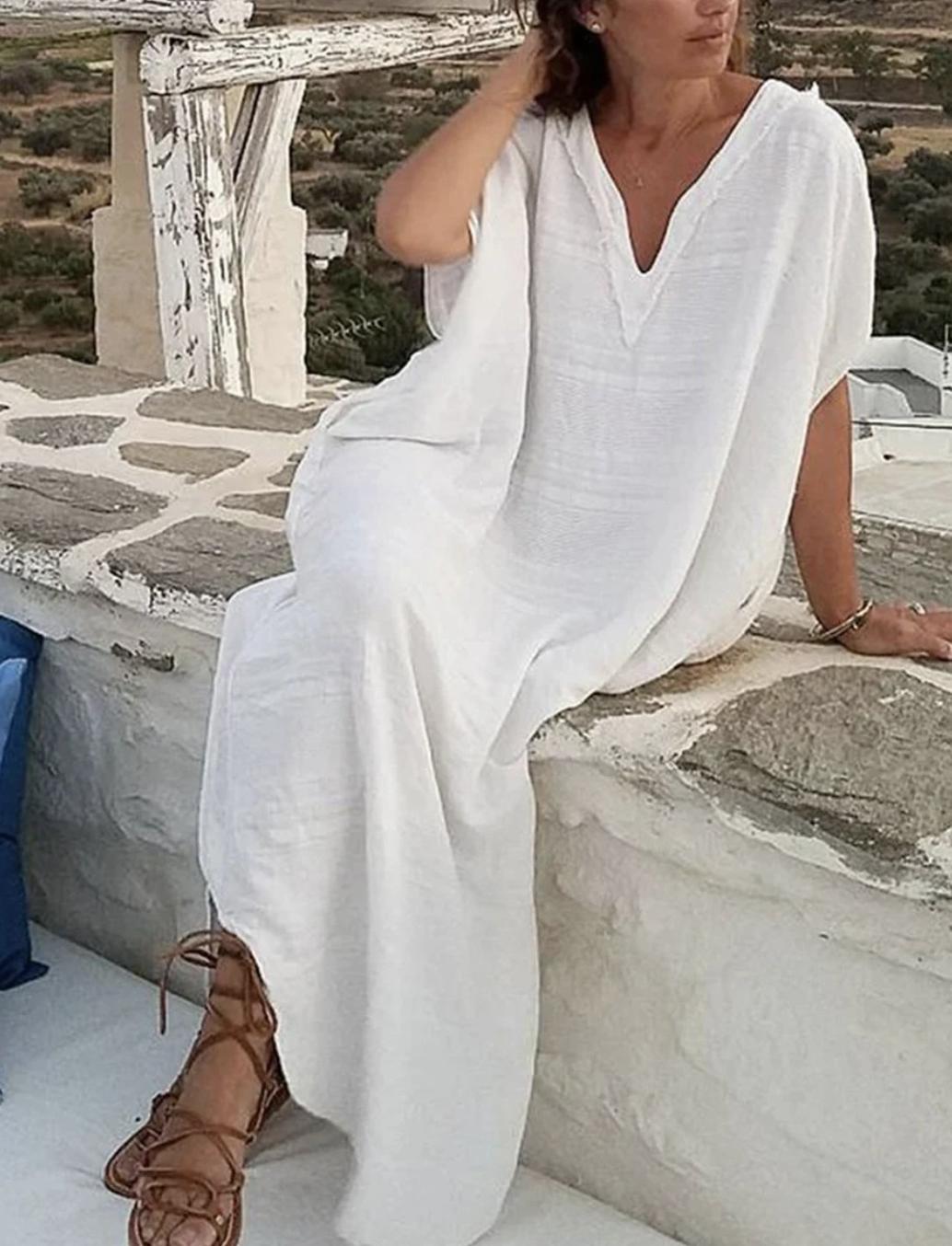 DOROLIS - Schönes und sehr weiches Leinen-Kleid