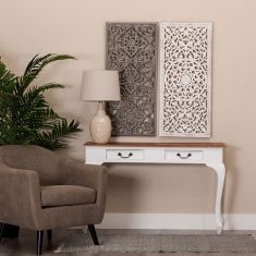 Consolas para recibidores colecci n helia 2 cajones for Consolas decoracion hogar