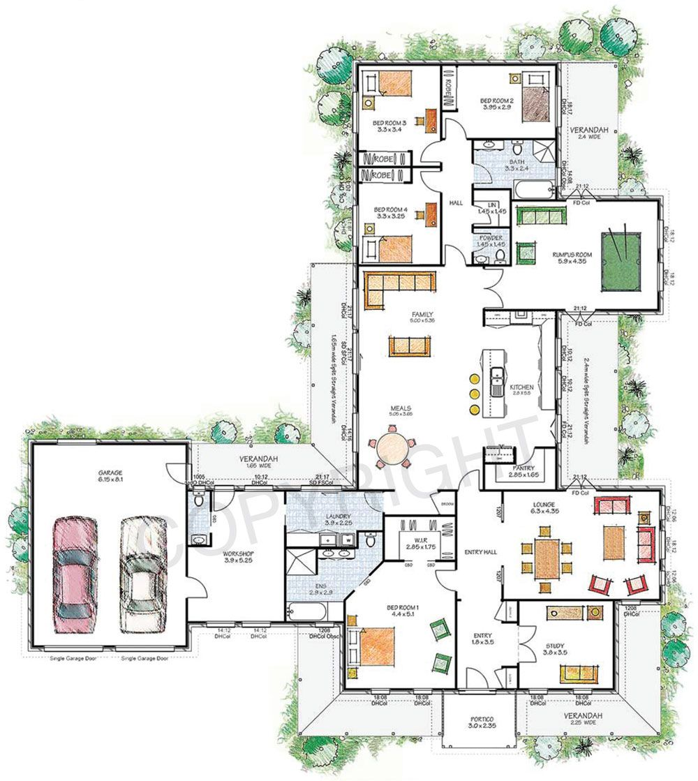 The Franklin floor plan - Download a PDF here - Paal Kit Homes offer ...