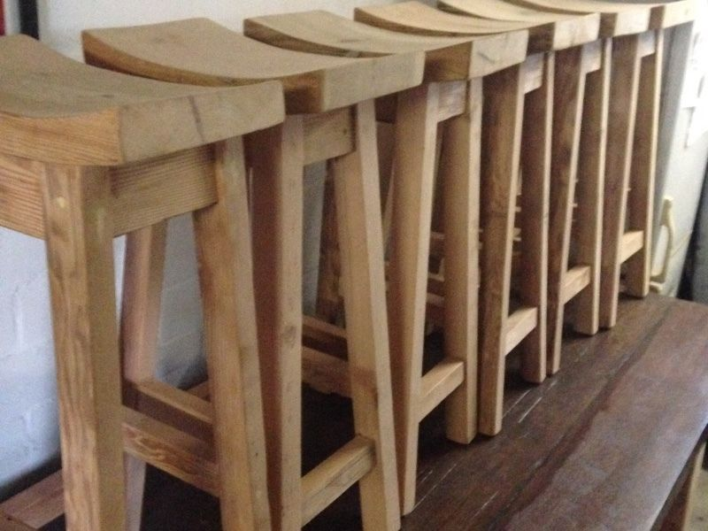 r895 each hand crafted bar stools in oregon pine www coneytimbers