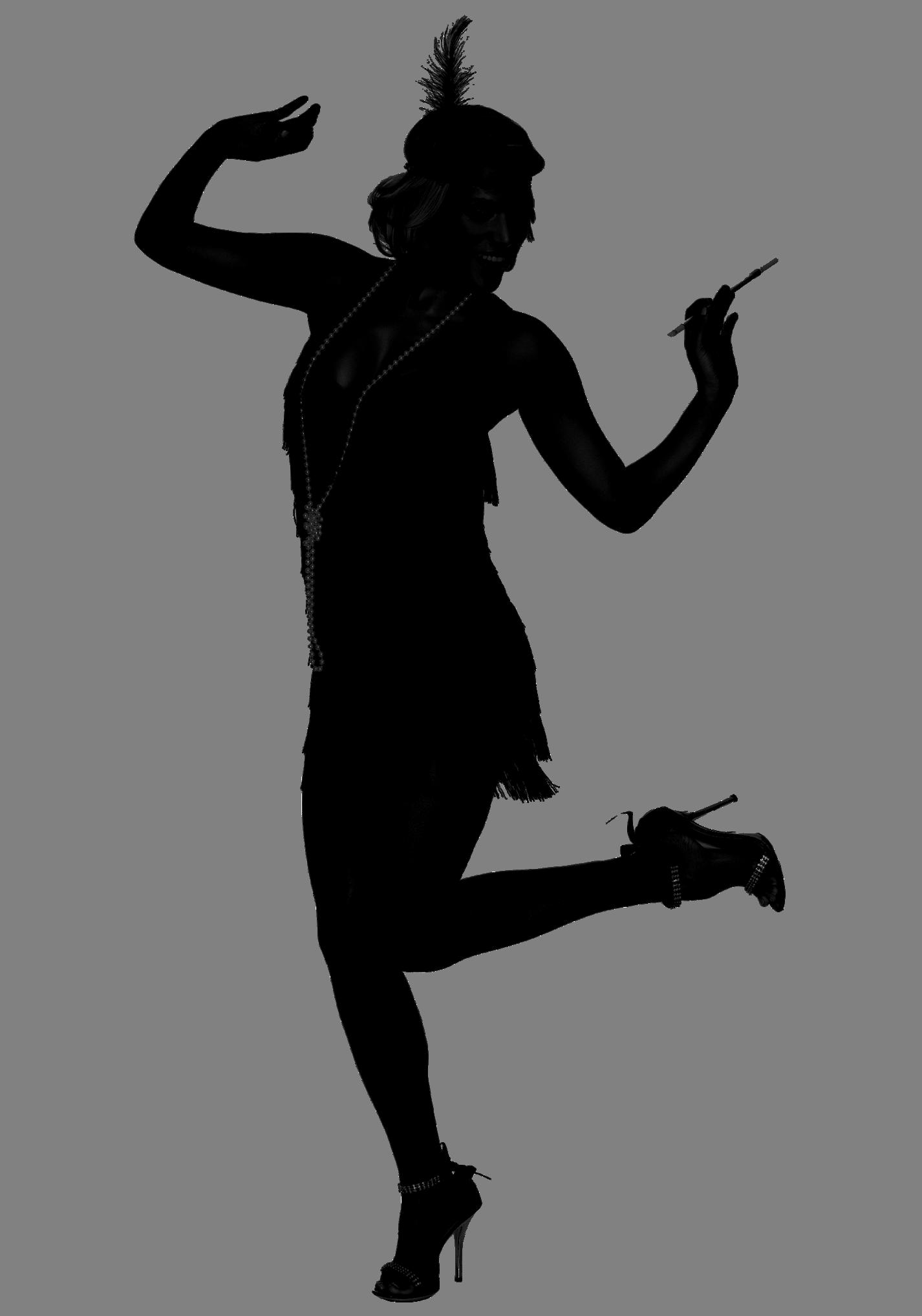 Flapper Silhoette 1 426 2 037 Pixels
