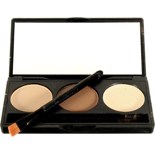 3 Colors Makeup Concealer Palette Face Facial Contour Powder... ($5.29) ❤ liked on Polyvore featuring beauty products, makeup, face makeup and palette makeup