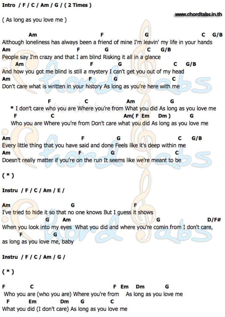 As Long As You Love Me Backstreet Boys Ukulele Songs Lyrics And Chords Backstreet Boys Songs