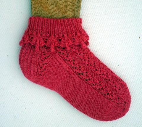 (6) Nombre: 'tejido: fucsia del volante Calcetines