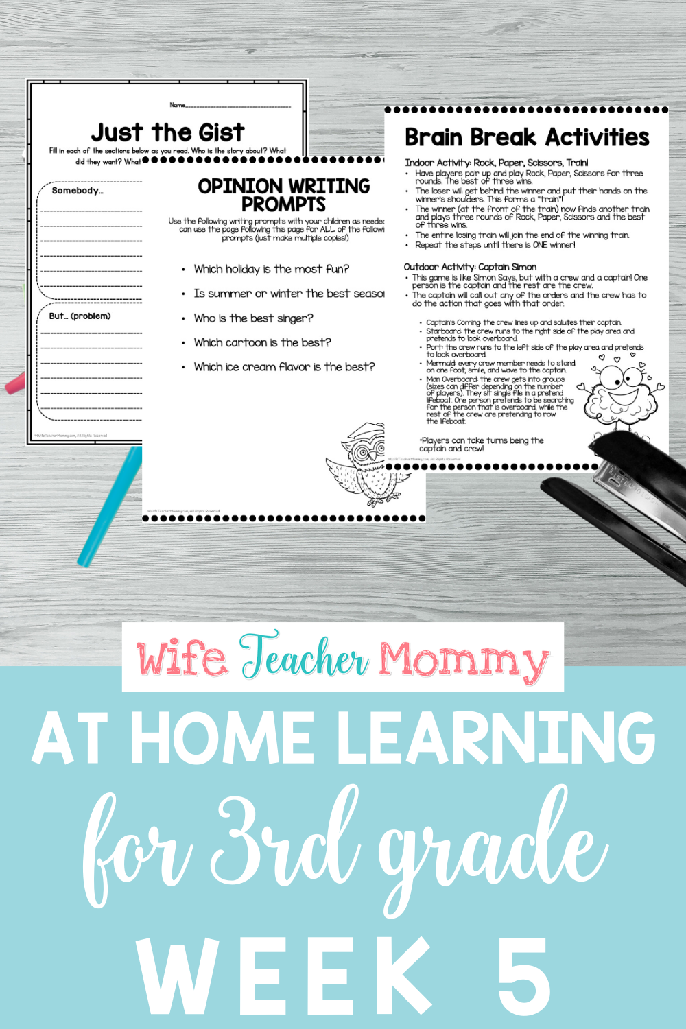 3rd Grade Distance Learning Packet At Home Learning Activities Week 5 Teacher Time Savers Opinion Writing Lessons Read To Self [ 1500 x 1000 Pixel ]