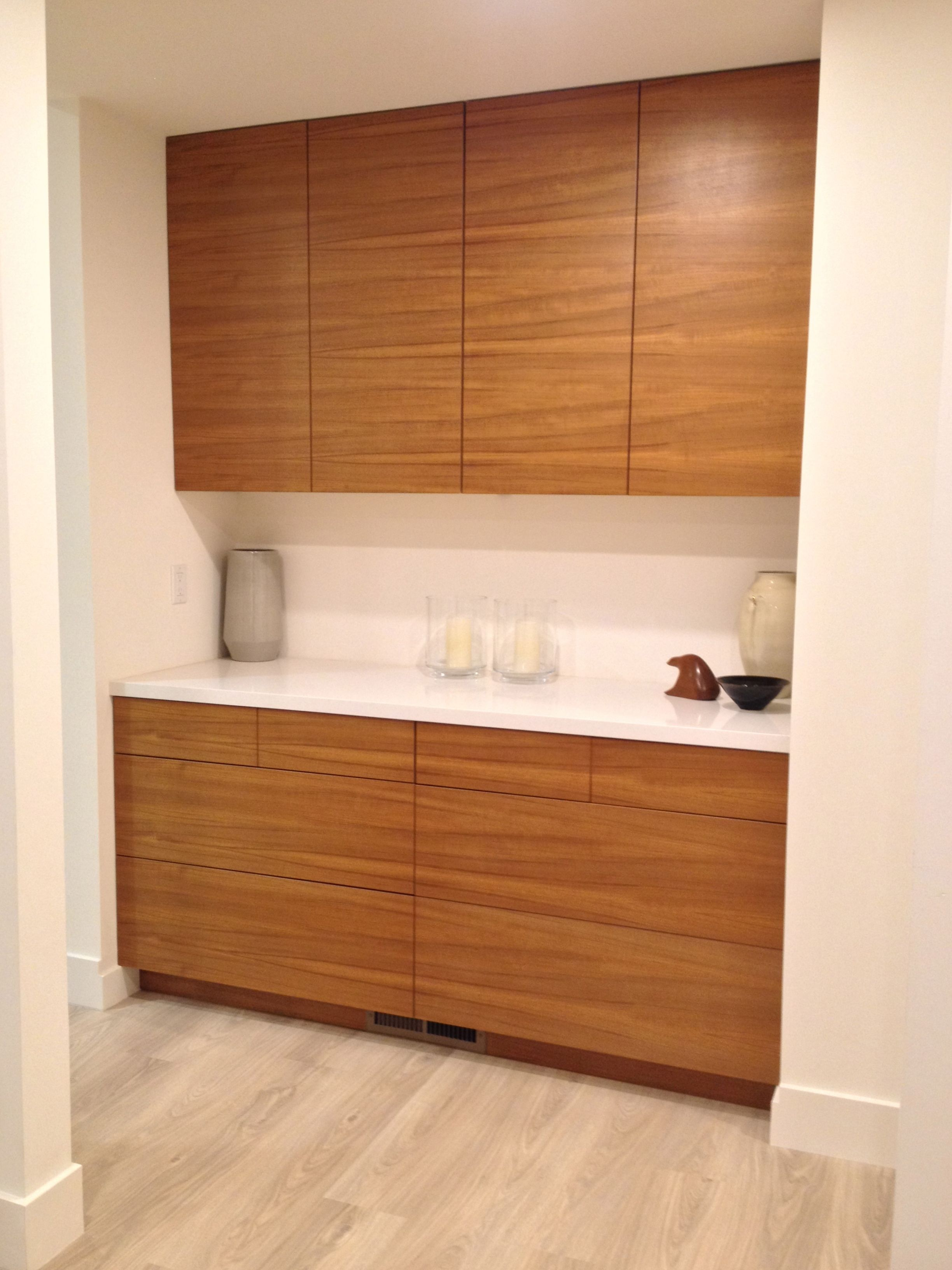 IKEA kitchen with Semihandmade Flatsawn Teak fronts