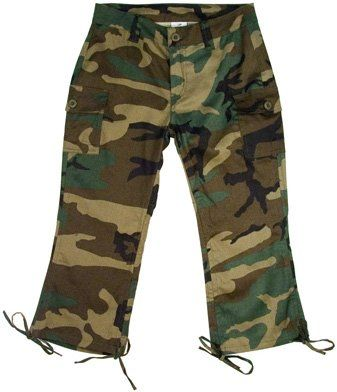 Women's Woodland Camo Capri Pants, Woodland Camo, 15-16 Apparel ...