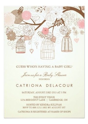 Bird cage themed party planning ideas supplies vintage birdcage vintage birdcage baby shower invitations filmwisefo Image collections