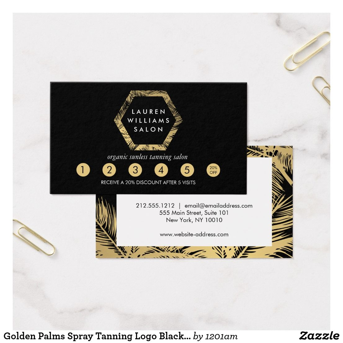 Golden Palms Spray Tanning Logo Black Loyalty Card Zazzle Com Spray Tanning Tanning Sunless Tanning Lotion