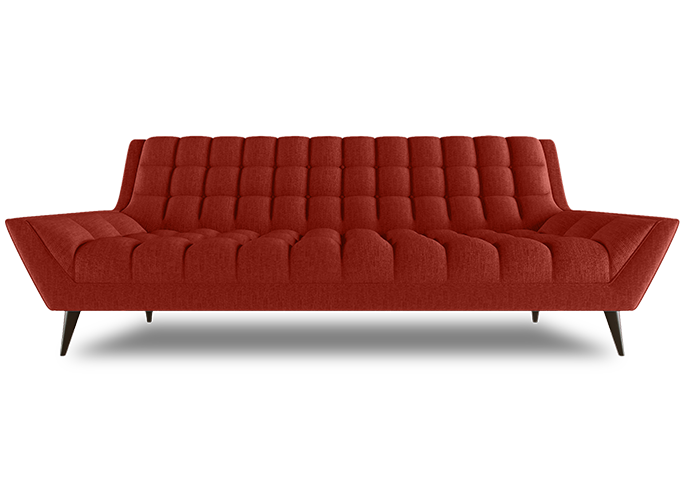 Cleveland Sofa L Shade Red Fabric L Thrive Furniture Contemporary Furniture  Midcentury Design