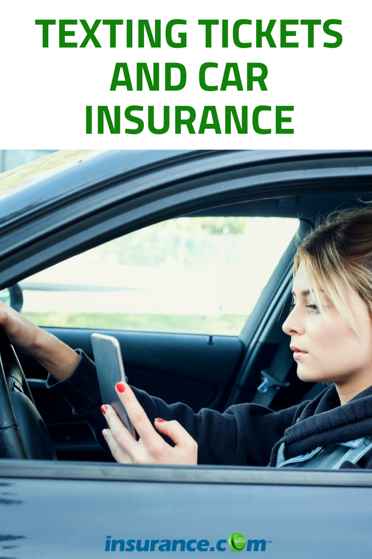 Texting Tickets And Car Insurance How Much Does Your Insurance Go