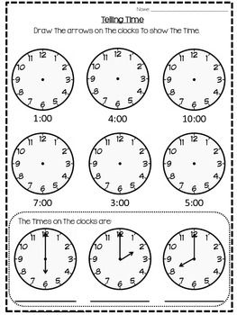 O'Clock Worksheet | First Grade Math | Clock worksheets ...