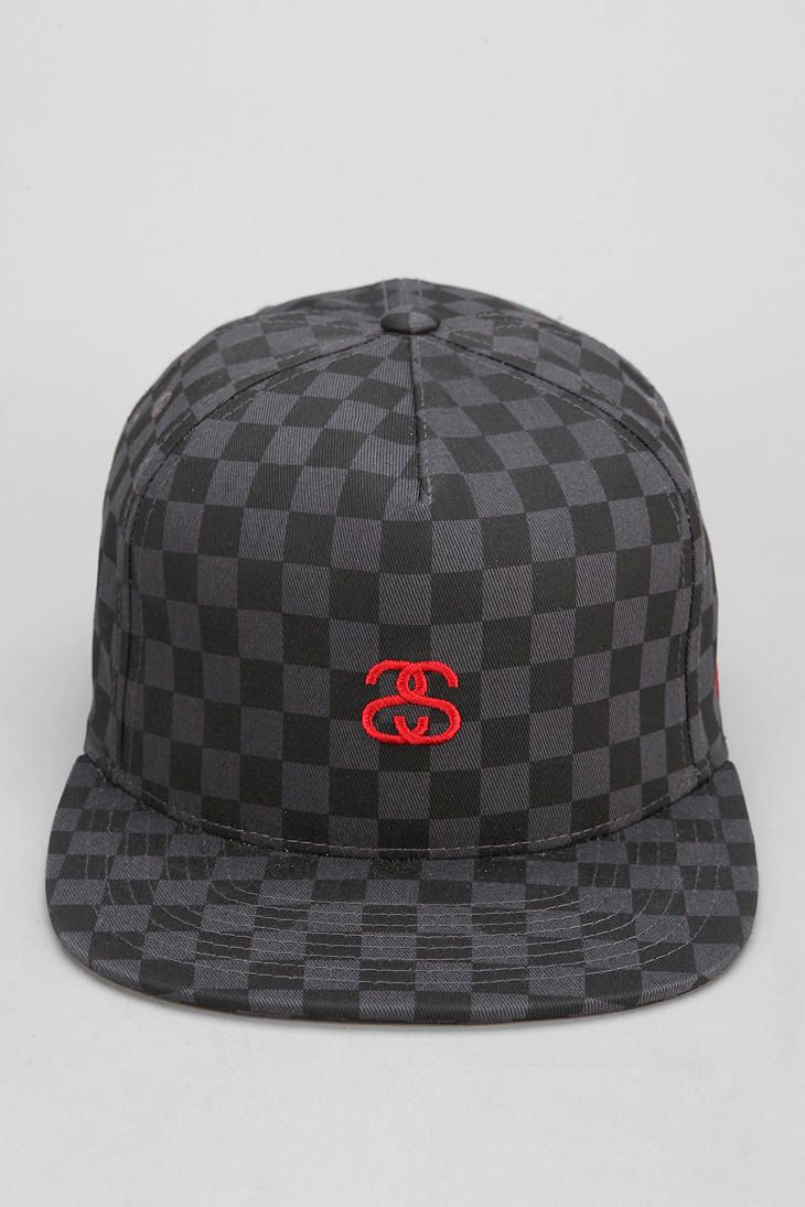 Stussy Checkerboard Snapback Hat