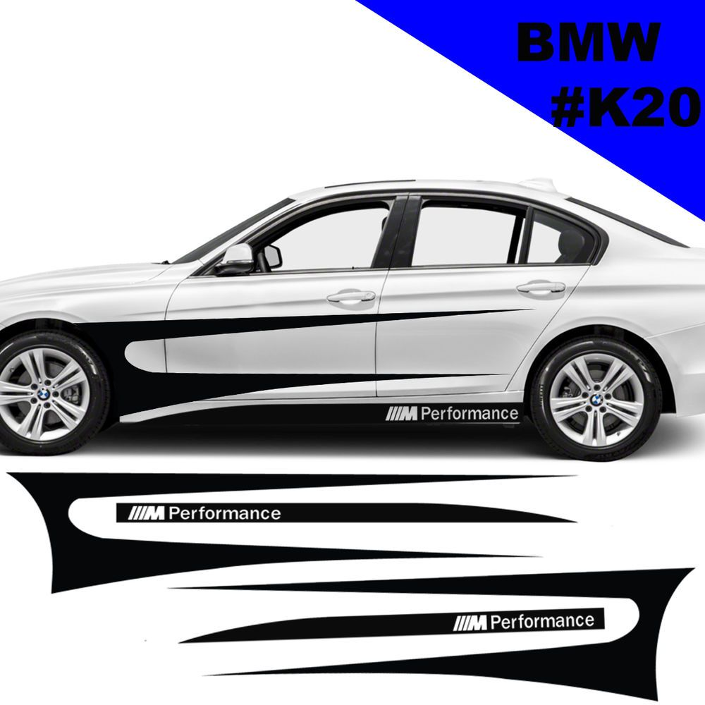 Sports Side Car Stripes Decal Car Graphics Car Stickers For BMW - Bmw racing stripes decals