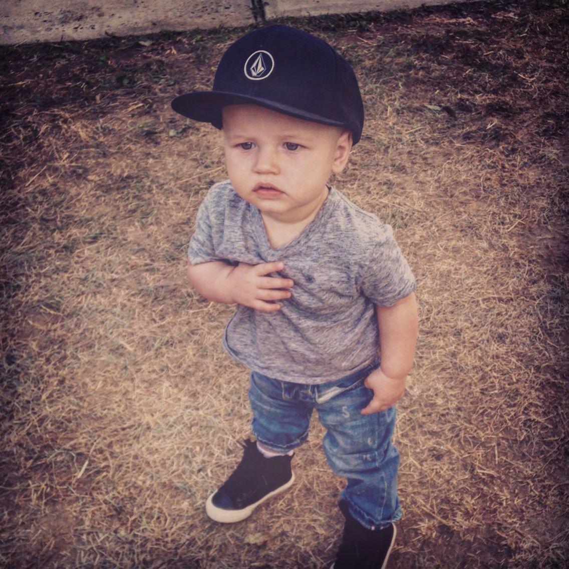 d85b8f43c volcom skate baby hat. baby gap jeans, baby gap sneakers, baby gap ...