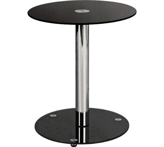Buy home matrix round lamp table black glass at argos your buy home matrix round lamp table black glass at argos mozeypictures Gallery
