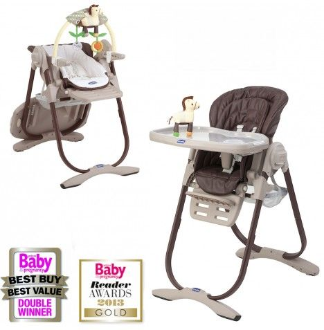 Chicco Polly Magic Highchair - Brown