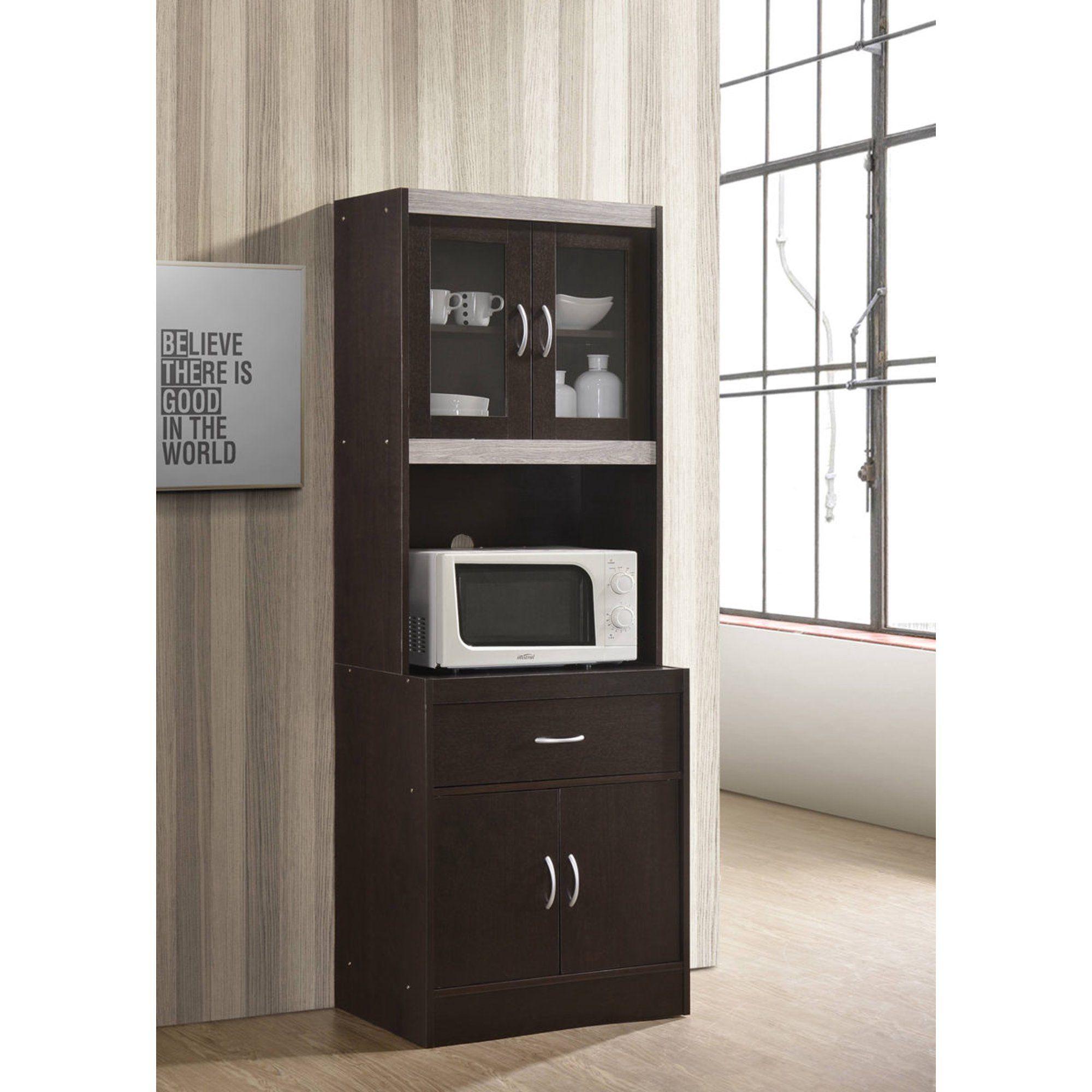 Hodedah Modern Kitchen Cabinet Cherry Walmart Com In 2020 Modern Kitchen Cabinets Kitchen Cabinets Kitchen Renovation