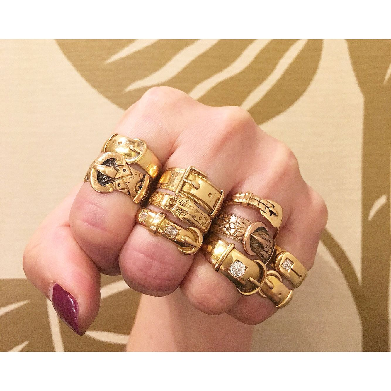 Classic antique and vintage gold buckle rings. Only at Isadoras ...