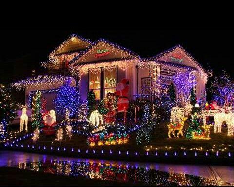 Christmas lights display Christmas Pinterest