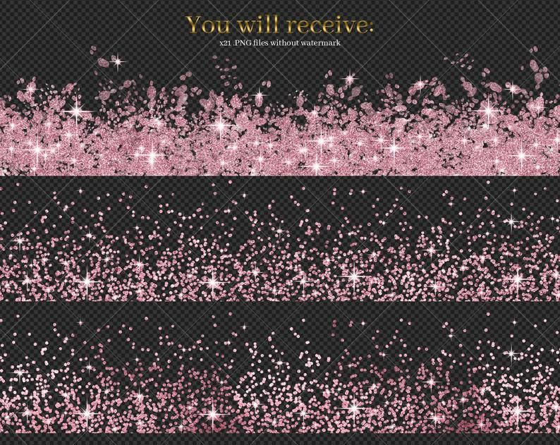 Pink Glitter Borders Clip Art Pink Frames Metallic Graphics Etsy Clip Art Borders Clip Art Pink Frames