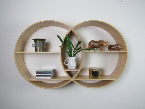 Shelf Modern Wall Decor, Round Wall Decor With Shelves