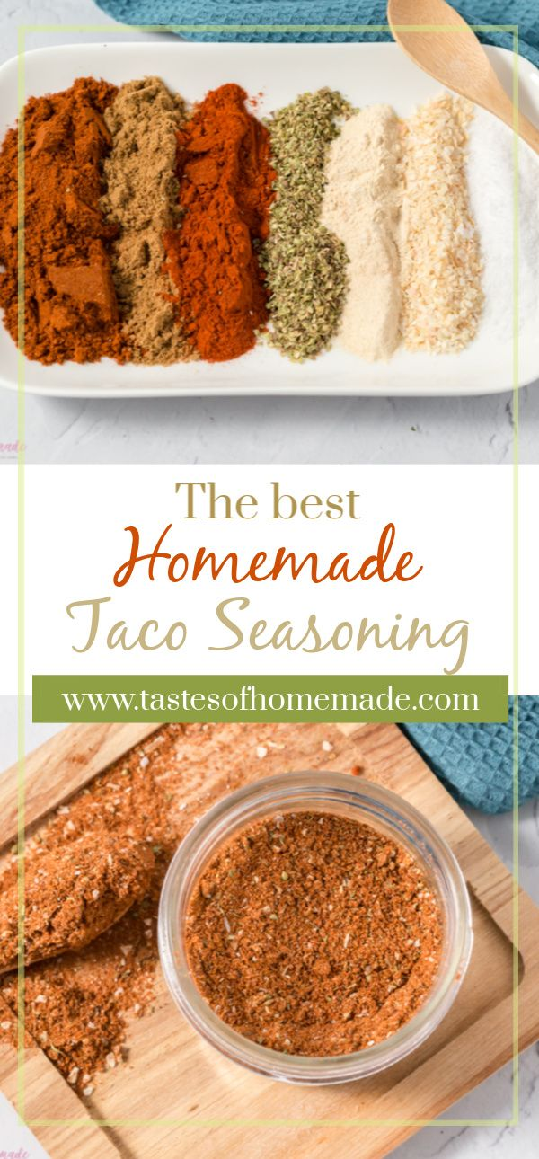 Just 7 simple spices blended together to create the best homemade taco seasoning.