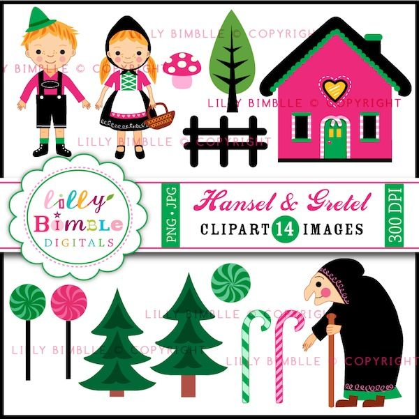 hansel gretel clipart includes 14 fairytale graphics for your rh pinterest co uk Schoolhouse Clip Art Cottage Clip Art