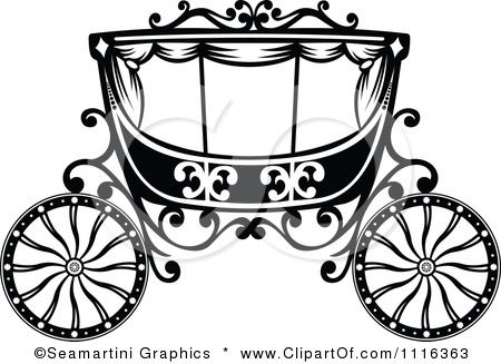 Clipart Black And White Fairy Tale Romantic Wedding Carriage Royalty Free Vector Illustration By Seamartini Gr Free Vector Illustration Illustration Clip Art
