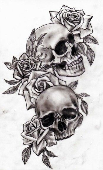 skull and rose tattoo classic i love this tattoos. Black Bedroom Furniture Sets. Home Design Ideas