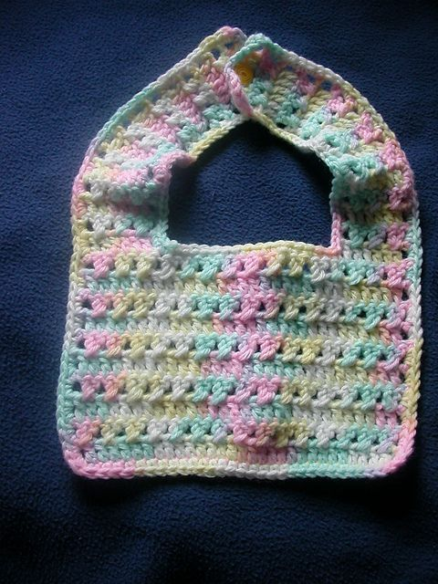 Free Crochet Bib Pattern Criss Cross Baby Bib Pattern Free