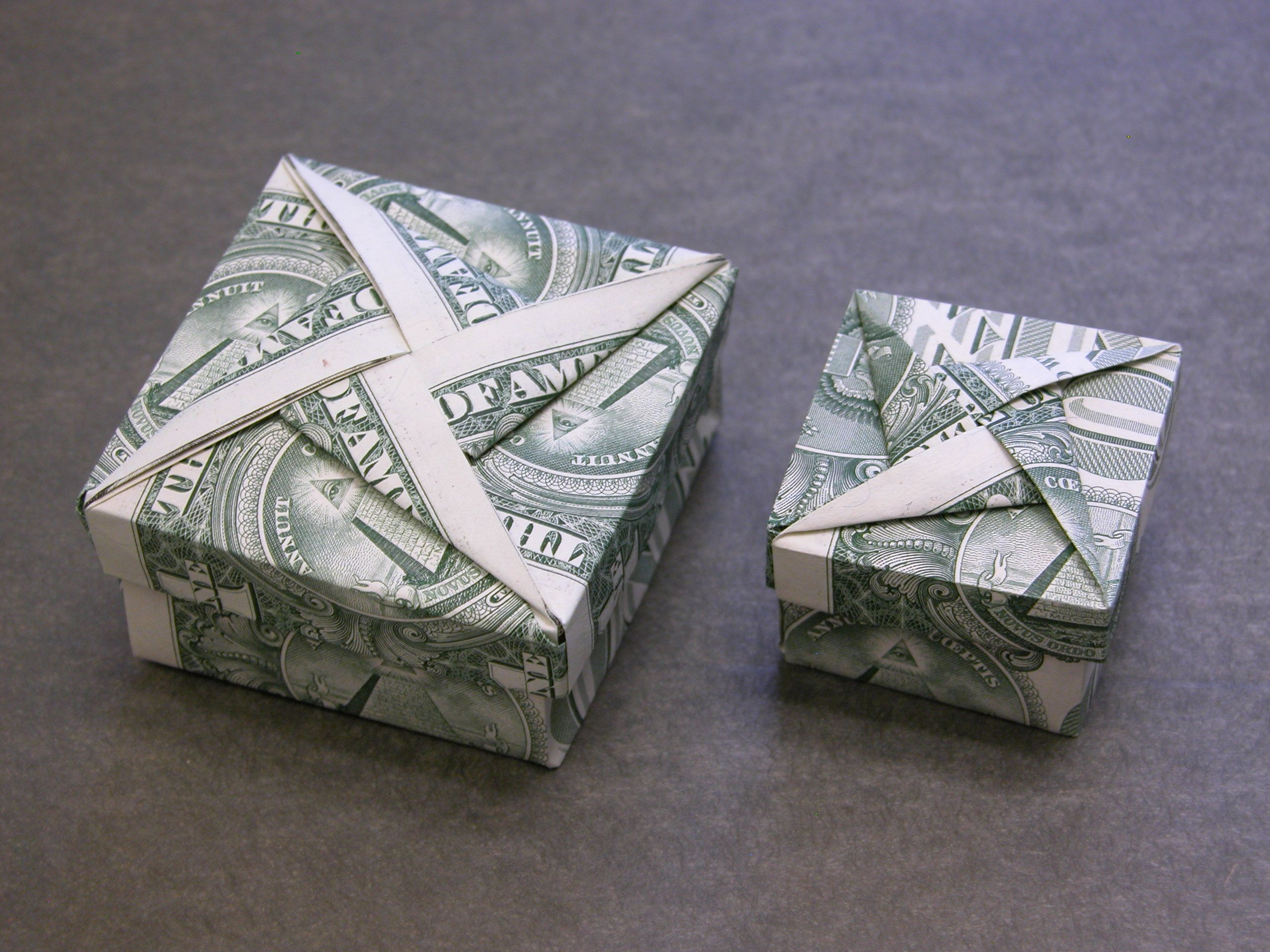 Dollar Money Origami Box with Star Cover | Money Dollar ... - photo#33