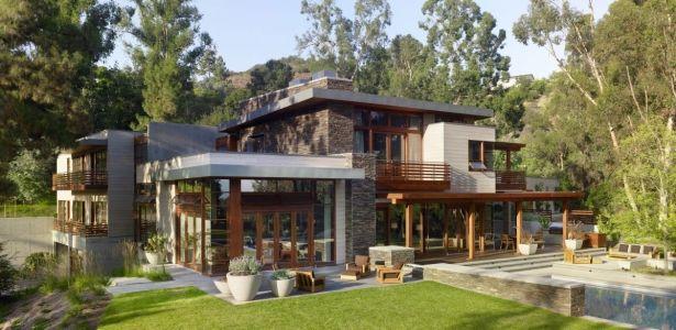 Magnifique maison bois et pierre contemporaine près de Los Angeles, Usa