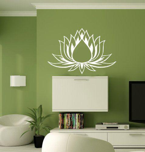 Hausewares Vinyl Decal Lotus Flower Yoga Meditation Wall Art Decor Removable Stylish Sticker Mural Unique Desig Wall Stickers Home Vinyl Wall Decals Vinyl Wall