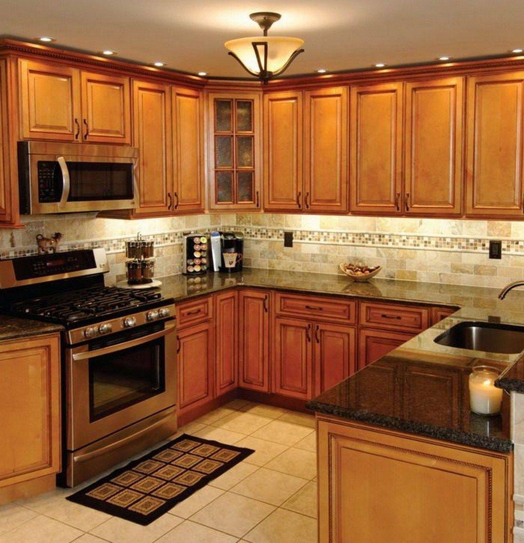 Backsplash For Kitchen With Honey Oak Cabinets